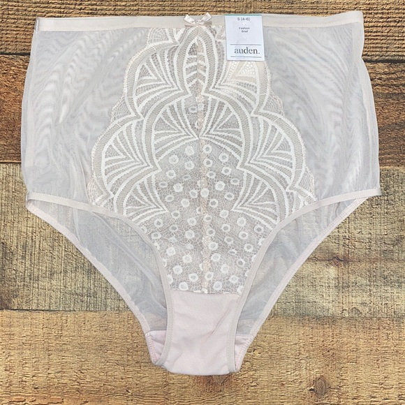 High Rise Lace Brief Panty S 4-6 NWT Free w Bundle
